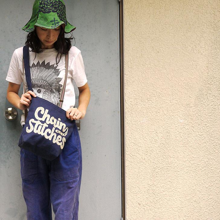 チェーン刺繍ショルダーバッグ