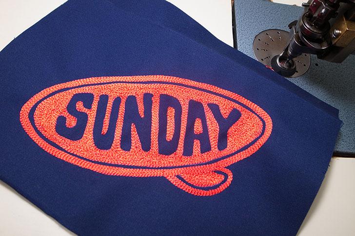 チェーン刺繍 サンデービーチクルーザー