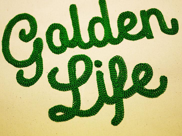 golden life チェーン刺繍