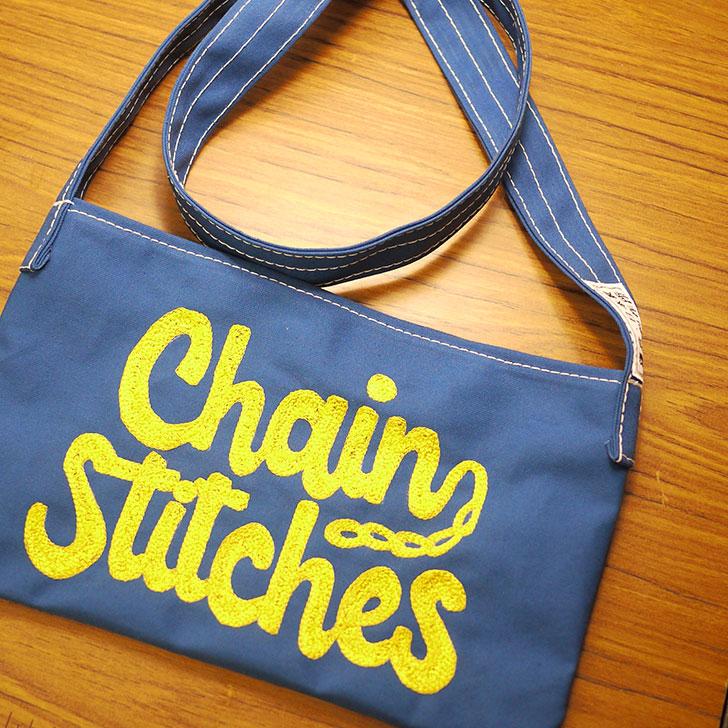 ハンドル刺繍ミシンでチェーン刺繍をするChain Stitches