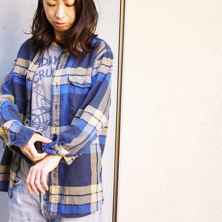 Used Levi's ネルシャツ チェーン刺繍