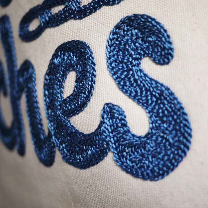 チェーン刺繍 エプロン